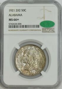 Click now to see the BUY IT NOW Price! 1921 ALABAMA 2X2 50C MS66  NGC   CAC 943452 29