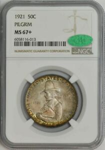 Click now to see the BUY IT NOW Price! 1921 PILGRIM HALF 50C MS67  NGC CAC 943764 8