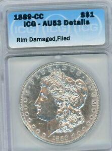 Click now to see the BUY IT NOW Price! 1889 CC MORGAN SILVER DOLLAR ICG AU53 DETAILS VAM2A SHARP STRIKE GREAT LUSTER