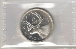 CANADA 1955 25 CENTS QUEEN ELIZABETH SILVER COIN GRADED ICCS PL 64 HEAVY CAME0