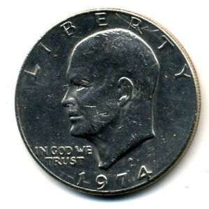 NICE 1974 D EISENHOWER DOLLAR CHOICE BRILLIANT UNCIRCULATED MINT STATE COIN1688