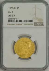 1809/8 $5 GOLD CAPPED BUST BD 1 AU53 NGC 944241 8