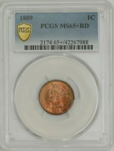 1889 INDIAN HEAD CENT 1C MS65  RD SECURE PCGS 942647 2