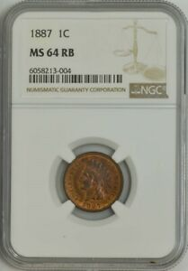 1887 INDIAN CENT 1C MS64 RB NGC 944204 19