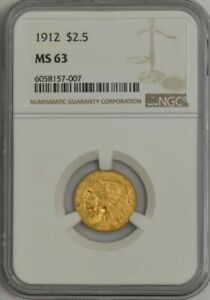 1912 $2 1/2 GOLD INDIAN MS63 NGC 944073 24
