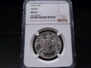 Click now to see the BUY IT NOW Price! 1920 MS66 MAINE SILVER COMMEMORATIVE NGC CERTIFIED SUPERB GEM   BLAST WHITE/PQ