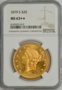 Click now to see the BUY IT NOW Price! 1879 S $20 GOLD LIBERTY MS63   NGC 943818 7