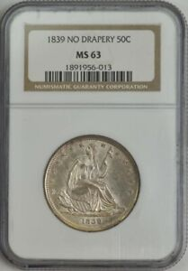 Click now to see the BUY IT NOW Price! 1839 SEATED LIBERTY HALF 50C NO DRAPERY MS63 NGC 944077 19