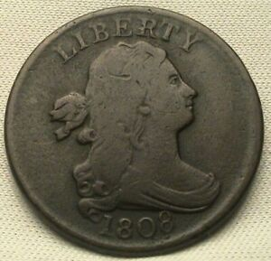 1808 DRAPED BUST HALF CENT. C 3  ROTATED DIES