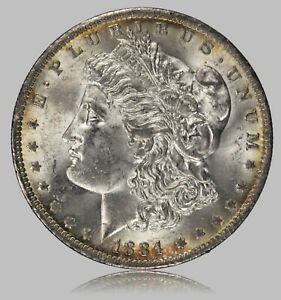 Click now to see the BUY IT NOW Price! 1884 O MORGAN SILVER DOLLAR NICE ORIGINAL UNCIRCULATED COIN LIGHT TONING