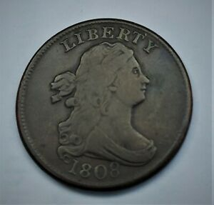DRAPED BUST 1/2 CENT 1808 CLEAN NICE TYPE COIN