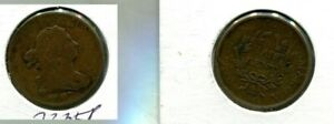 1807 DRAPED BUST HALF CENT TYPE COIN F VF 7335P