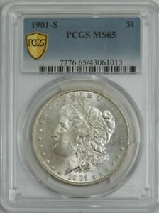 Click now to see the BUY IT NOW Price! 1901 S MORGAN SILVER DOLLAR $ MS65 PCGS SECURE 944304 12