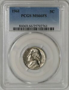 Click now to see the BUY IT NOW Price! 1961 JEFFERSON NICKEL 5C MS66 FS PCGS 941560 2