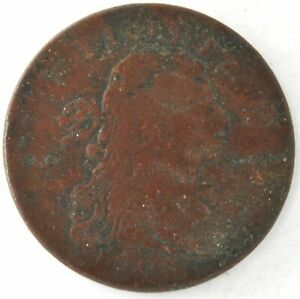 1796 DRAPED BUST FLOWING HAIR LARGE CENT US COPPER PENNY COIN UNITED STATES