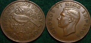 1940 LARGE PENNY NEW ZEALAND  NICE DETAILS