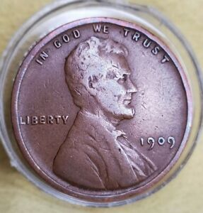 1909 VDB WHEAT PENNY LINCOLN CENT ERROR DIE PLANCHET CRACKTO THE LEFT SIDE RVRS