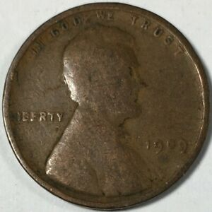 1909 UNITED STATES LINCOLN WHEAT CENT PENNY   KM132   0756