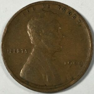 1909 UNITED STATES LINCOLN WHEAT CENT PENNY   KM132   0757