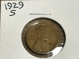 1929 S LINCOLN WHEAT CENT  21921