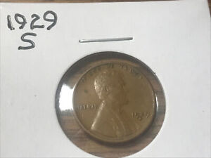 1929 S LINCOLN WHEAT CENT  21909