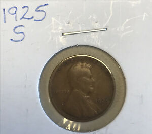 1925 S LINCOLN WHEAT CENT  21825