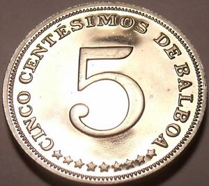 PANAMA 1973 5 CENTESIMOS PROOF  ONLY 17 000 MINTED
