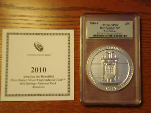 Click now to see the BUY IT NOW Price! PCGS SP68 HOT SPRINGS NP 5 OZ 5 OUNCE FINE SILVER