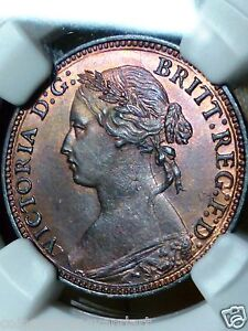 Click now to see the BUY IT NOW Price! 1874H FARTHING 1/4P NGC POPULATION 1 HIGHEST GRADED AND ONLY ONE NGC MS65
