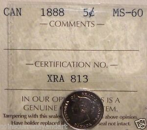 Click now to see the BUY IT NOW Price! CANADA 1888  HIGH GRADE 5 CENTS