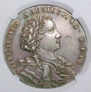Click now to see the BUY IT NOW Price! 1707 RUSSIA PETER I  THE GREAT  NOVODEL ROUBLE NGC XF 45