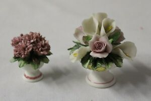 two porcelain flower bouquet made