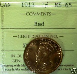 Click now to see the BUY IT NOW Price! 1913  CANADA LARGE CENT   ICCS GRADED   DESIRABLE HIGH GRADE COIN