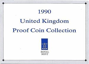 1990 GREAT BRITAIN 9 COIN 3 PAGE C.O.A. DOCUMENT SET
