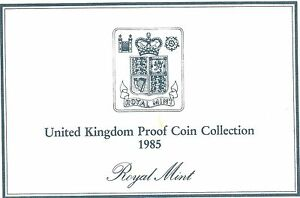 1985 GREAT BRITAIN 7 COIN 2 PAGE C.O.A. DOCUMENT SET