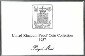 1987 GREAT BRITAIN 7 COIN 2 PAGE C.O.A. DOCUMENT SET