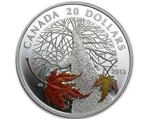 Click now to see the BUY IT NOW Price! SPRING AND AUTUMN COIN SET   2013 $20 FINE SILVER COINS CANADIAN MAPLE CANOPY