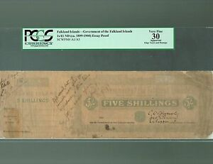 Click now to see the BUY IT NOW Price! FALKLAND ISLANDS LOT P A1 A3 1899 1900 1901 5 SHILLINGS 1 POUND VF PROOF PCGS 30