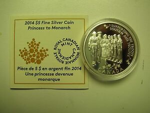 Click now to see the BUY IT NOW Price! 2014 PROOF $5 PRINCESS TO MONARCH CANADA COIN&COA ONLY .9999 SILVER FIVE DOLLARS