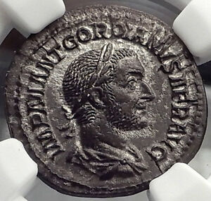 Click now to see the BUY IT NOW Price! GORDIAN I AFRICANUS 238AD NGC CERTIFIED CH AU ANCIENT SILVER ROMAN COIN I58298