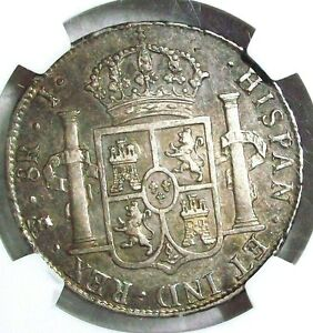Click now to see the BUY IT NOW Price! 1825 PTS J BOLIVIA FERDINAND VII SILVER 8 REALES NGC AU 50