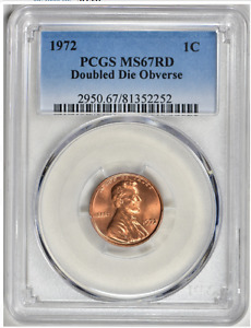 Click now to see the BUY IT NOW Price! 1972/72 DOUBLED DIE LINCOLN CENT   PCGS MS 67 RED   SPOT FREE