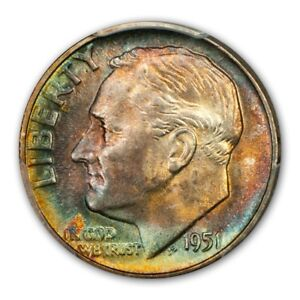 Click now to see the BUY IT NOW Price! 1951 10C ROOSEVELT DIME PCGS MS67 FB