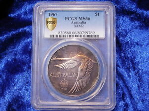 Click now to see the BUY IT NOW Price! 1967 AUSTRALIAN ONE DOLLAR SWAN SLABBED PCGS MS66