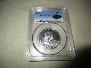 Click now to see the BUY IT NOW Price! 1951 FRANKLIN HALF DOLLAR PCGS PROOF 67 CAMEO CAC