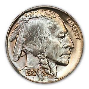 Click now to see the BUY IT NOW Price! 1937 5C BUFFALO NICKEL PCGS MS68