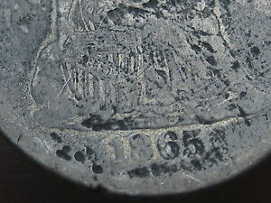 1865 SEATED LIBERTY SILVER DIME  POSSIBLE P MINT?