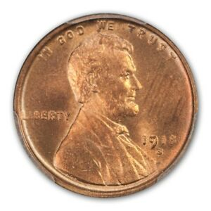 Click now to see the BUY IT NOW Price! 1918 S 1C LINCOLN CENT   TYPE 1 WHEAT REVERSE PCGS MS65RD