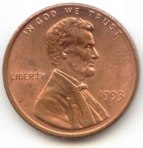 USA 1993 PENNY 1C AMERICAN ONE CENT LINCOLN PENNY 1C   EXACT COIN SHOWN 1 C