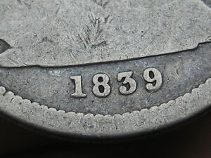1839 P SILVER SEATED LIBERTY QUARTER FULL DATE CANCELLED COUNTERSTAMP?